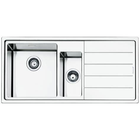 brushed stainless steel kitchen sinks smeg lft102d mira kitchen sink 1 5 bowls brushed stainless