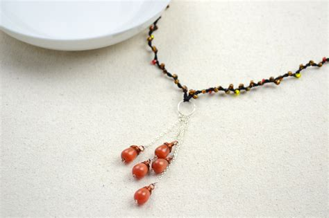 diy beaded necklace beaded string jewelry diy fringe necklace for 183 how
