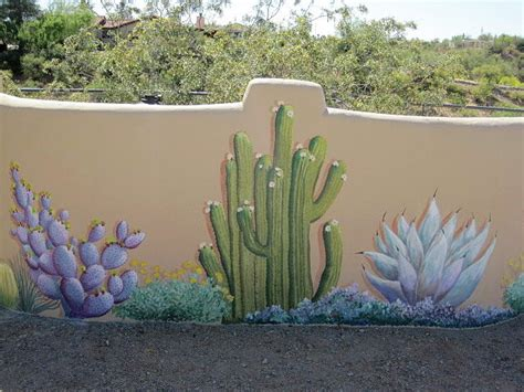 Childrens Large Wall Stickers cactus mural example by patty rebholz