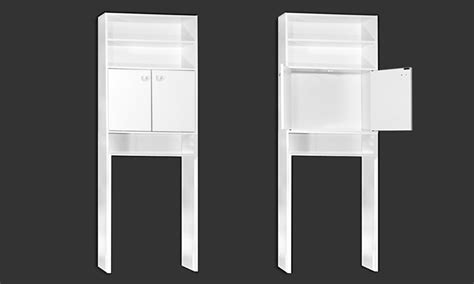 deuba meuble armoire pour salle de bain toilette machine