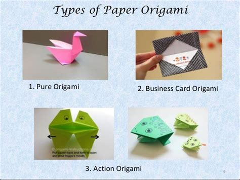 origami paper types origami a paper folding
