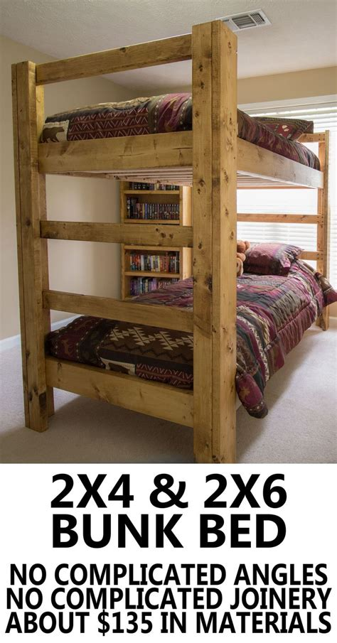 build bunk bed build your own bunk bed easy and strong