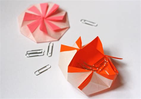 Origami Octagonal Pouch How About Orange