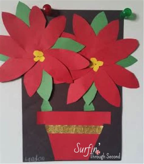 poinsettia craft project festive poinsettias craft classroom