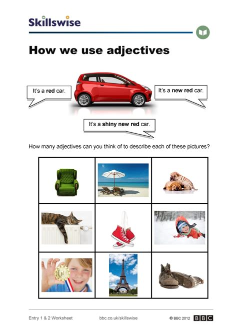 use of how we use adjectives