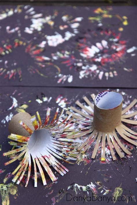 paper fireworks crafts easy fireworks painting for danya banya