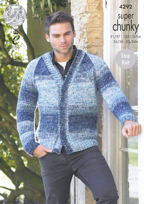 mens chunky knitting patterns mens chunky knitting pattern king cole easy knit