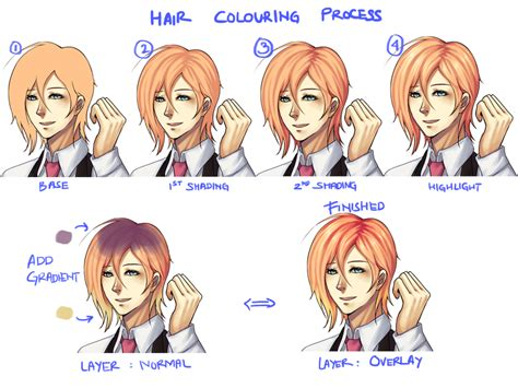 how to shade hair how i color gradient hair by ridekasama on deviantart