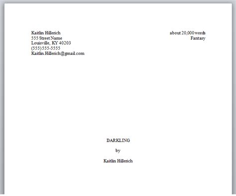 picture book manuscript format how to format your novel properly before querying agents