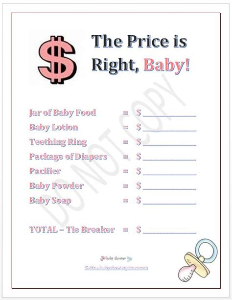 9 best images of printable price is right games free