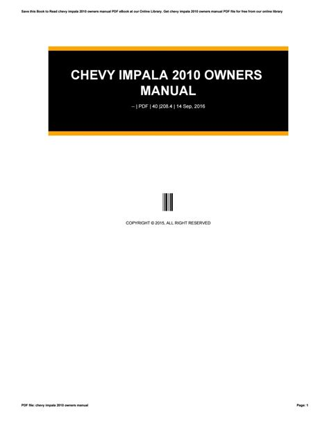 online auto repair manual 2010 chevrolet impala regenerative braking chevy impala 2010 owners manual by u2081 issuu
