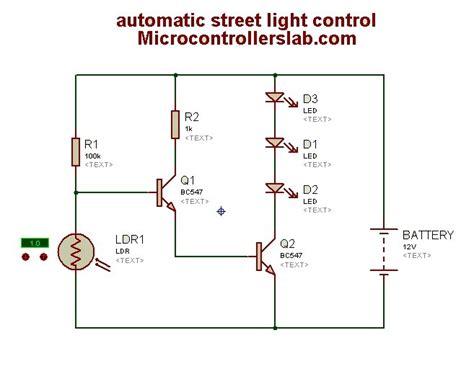 light controller schematic automatic light circuit diagram