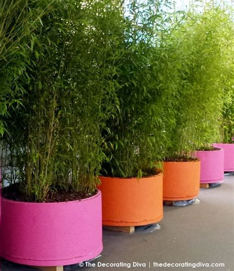 large planters for trees pink bright orange garden planters decorating
