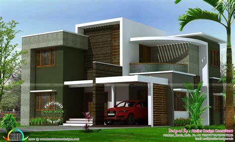 home design for 2400 sq ft 2400 sq ft contemporary box type house kerala home