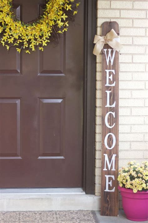 front door welcome signs welcome front porch wooden sign welcome sign front porch