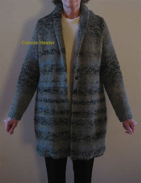 coat knitting pattern bulky knit coat pattern with shawl collar