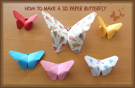 how to make 3d paper crafts how to make an easy 3d paper butterfly kirigami style