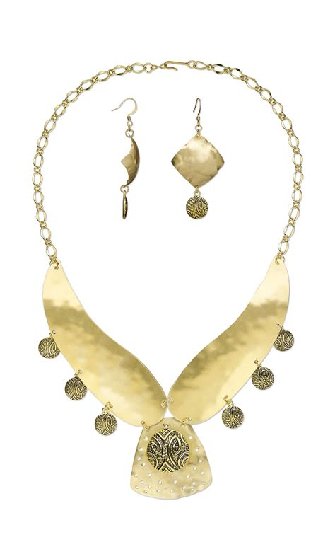 sheet metal for jewelry jewelry design bib style necklace and earring set with