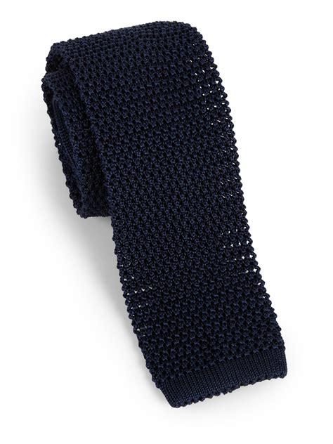 silk knit ties charvet silk knit tie in blue for lyst