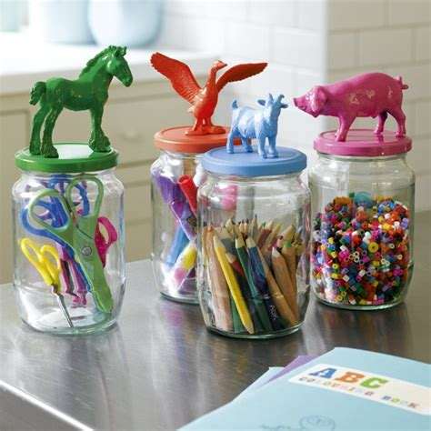 craft projects with jars colorful animal jars totally green crafts