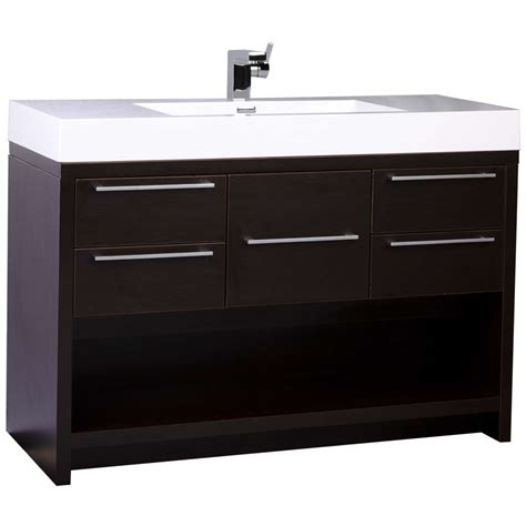47 quot modern bathroom vanity set espresso finish tn l1200 wg conceptbaths