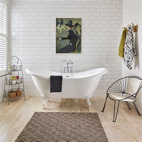 modern bathroom tiles uk white modern bathroom with metro tiles and artwork