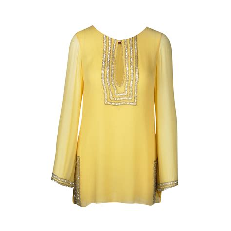 beaded kaftan tops second farah khan beaded kaftan top the fifth