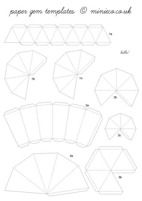 origami paper template paper gem template 07 crafts gems craft