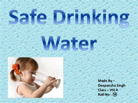 are water safe safe water
