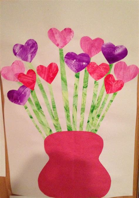 paper flower craft for preschoolers s day flower craft child paints a of