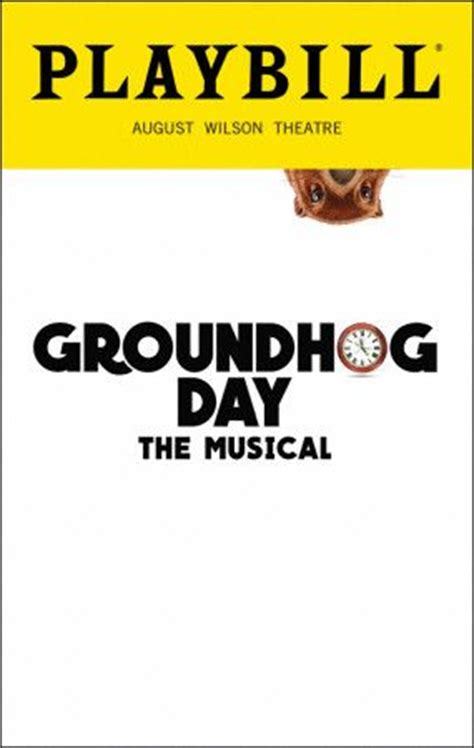 groundhog day synopsis 1034 best playbills and new images on