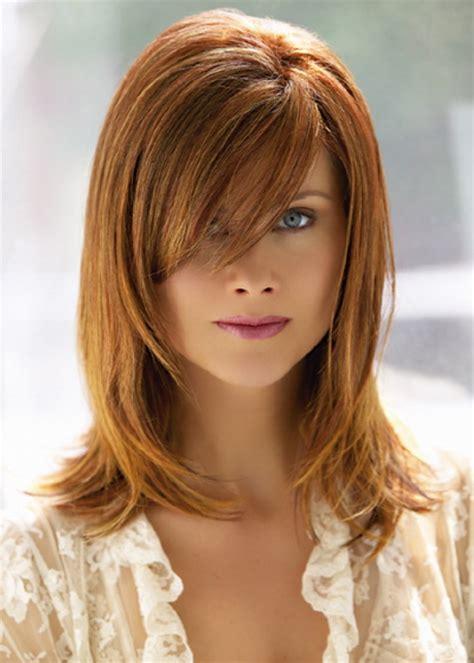 layered medium lenght hair with bangs medium length layered haircuts with bangs