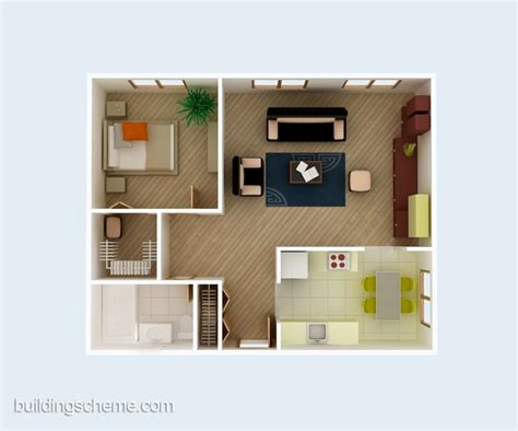 home design living room simple 3d building scheme and floor plans ideas for house