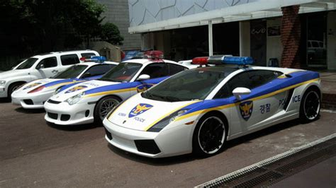 Korean police and super cars
