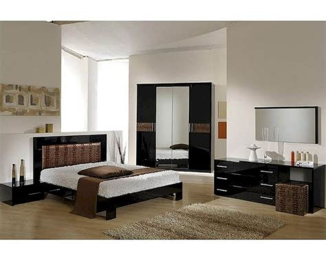 brown bedroom furniture sets modern bedroom set in black brown finish made in italy