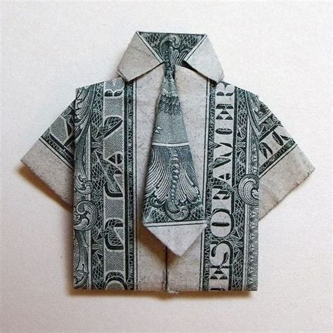 origami dollar shirt and tie money origami