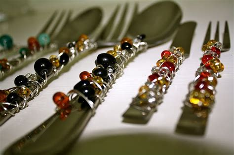 beaded flatware 1000 images about beaded silverware on