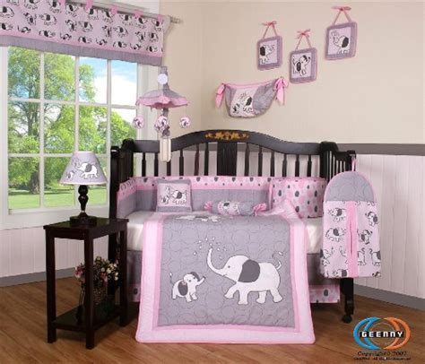 pink and gray elephant crib bedding boutique pink gray elephant 13pcs crib bedding sets baby