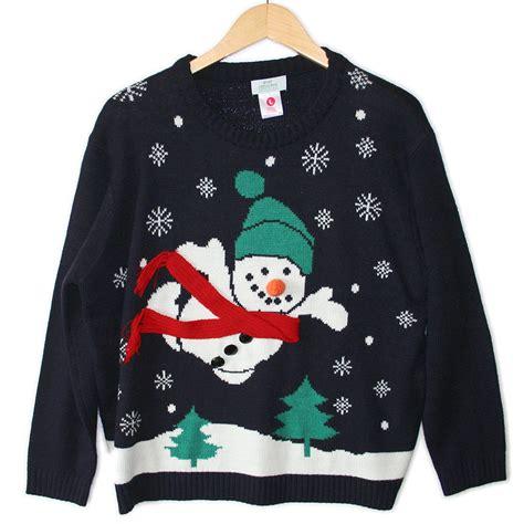 tacky sweater superman snowman tacky sweater the