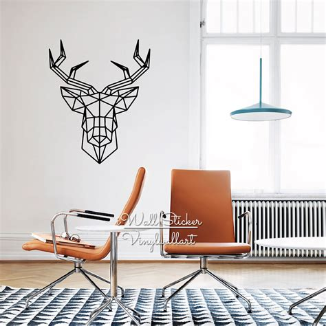 deer stickers for wall aliexpress buy geometric deer wall sticker modern