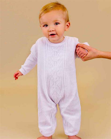 baby boy knit christening korbyn baby boys knit christening romper white romper