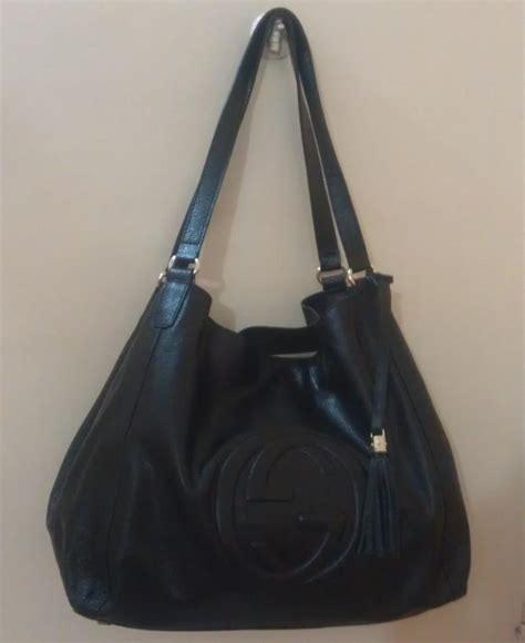 black leather the shoulder bag black wedding gucci black leather soho shoulder bag 2186840 weddbook