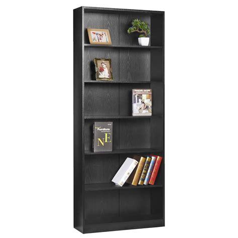 black bookshelves 6 shelf bookcase black ebay