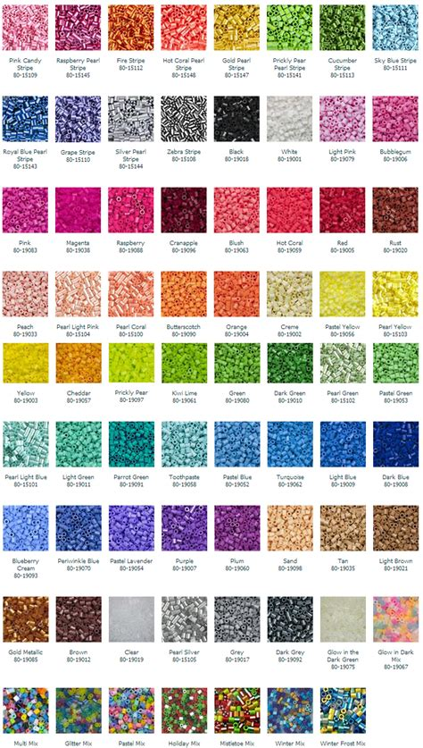 perler bead color chart bec s perler tutorial on a new hobby part iii