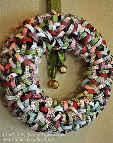 paper wreath craft southlake scrapbooking wreath