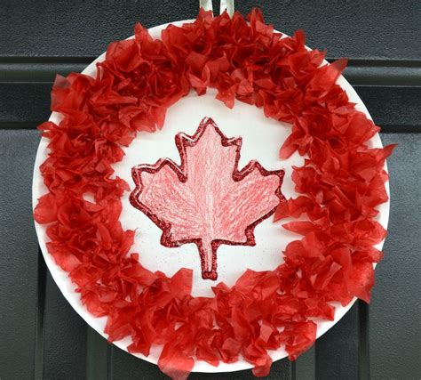 wreath craft for 25 unique canada day crafts ideas on canada