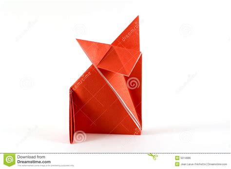 origami folding fox folding origami royalty free stock image image 5014886
