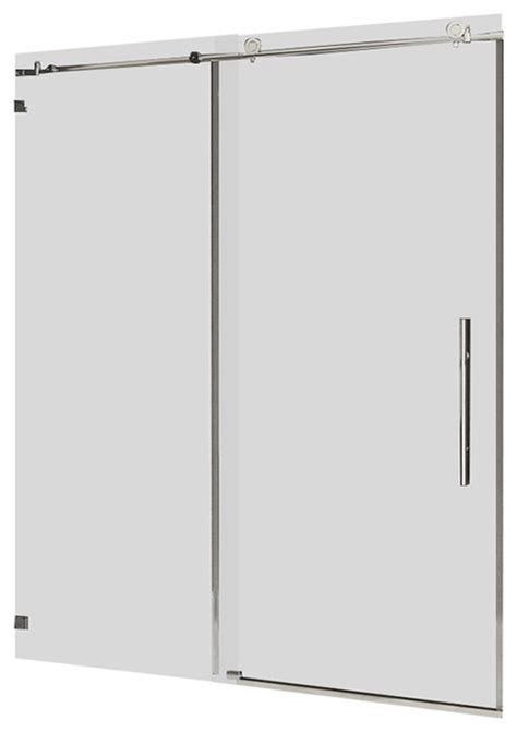 contemporary shower doors ultra c collection frameless 10mm clear tempered glass
