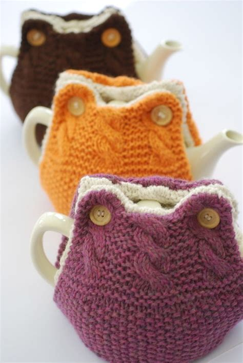 knitted teapot covers tea cosies tea cozy and teas on
