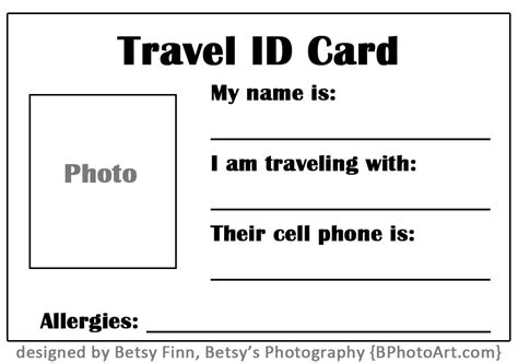 make my trip card travel quot id quot card for toddlers free printable betsys